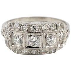 Antique Old European Cut Diamond Cocktail Ring