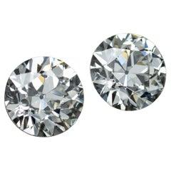 Antique Old European Cut Diamond Pair