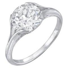 Neil Lane Couture Antique Old European-Cut Diamond, Platinum Ring