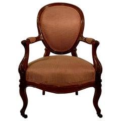 Antique Old Louisiana Armchair, circa 1840