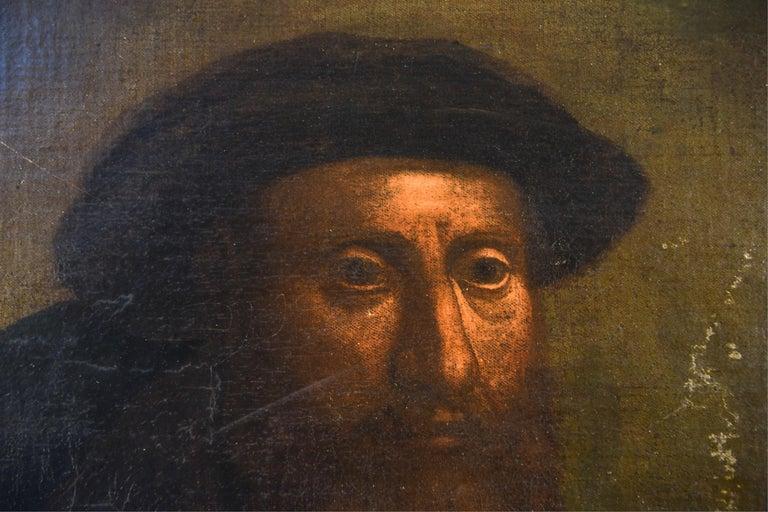 Renaissance Antique Old Master Style Portrait Painting For Sale
