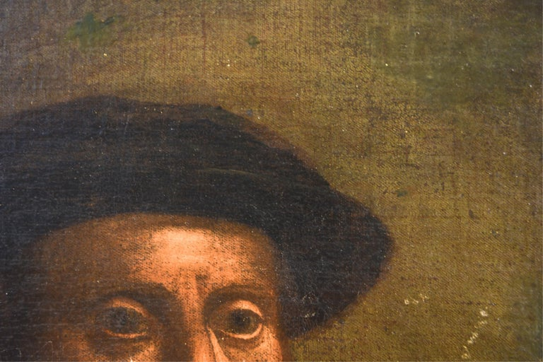 Antique Old Master Style Portrait Painting For Sale 2