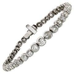 Antique Old Mine Diamond 10.00cttw Tennis Circa 1930's Bracelet