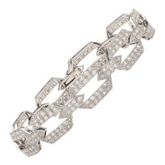 Antique Old Mine Diamond and Gold Deco Bracelet