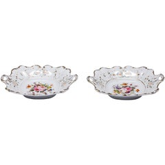 Antique Old Paris Hand-Painted Dishes Set of Two