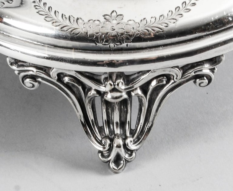 English Antique Old Sheffield Silver Plate Decanter Stand Tantalus, 19th Century For Sale