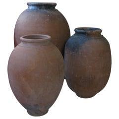Antique Olive Pot, Olive Pot, Spain, Terracotta Pot, 20th Century
