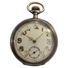 Antique Omega Silver Pocket Watch