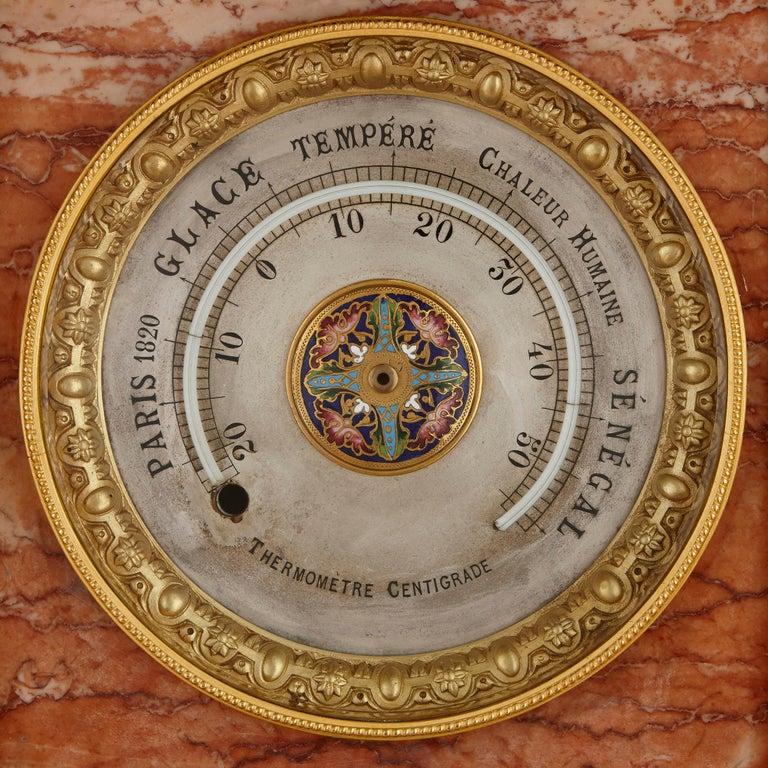 19th Century Antique Onyx, Marble, Gilt Bronze and Cloisonné Enamel Longcase Clock For Sale