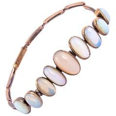 Antique Opal and 9 Carat Gold Bracelet