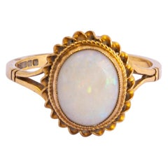 Antique Opal and 9 Carat Gold Ring