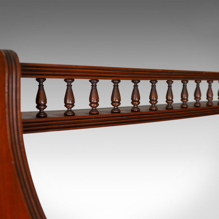 20th Century Antique Open Bookcase, Tall, English, Walnut, Book Shelves, Edwardian For Sale