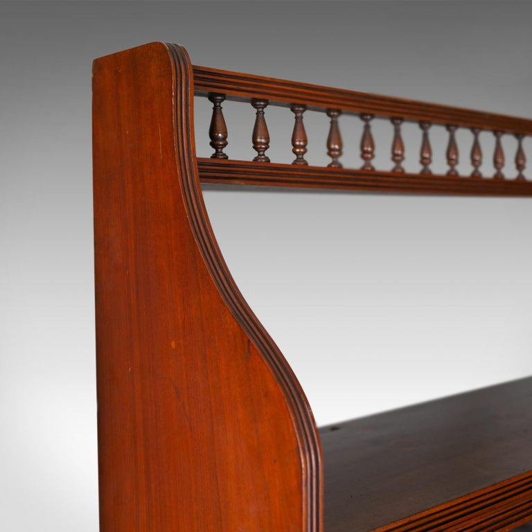 Antique Open Bookcase, Tall, English, Walnut, Book Shelves, Edwardian For Sale 1