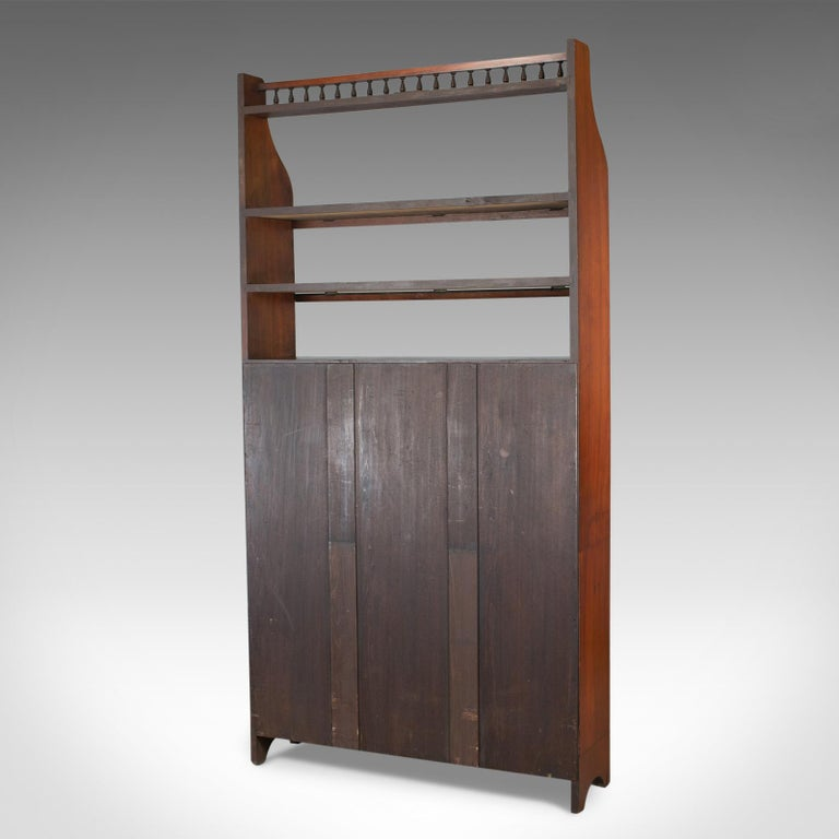 Antique Open Bookcase, Tall, English, Walnut, Book Shelves, Edwardian For Sale 2