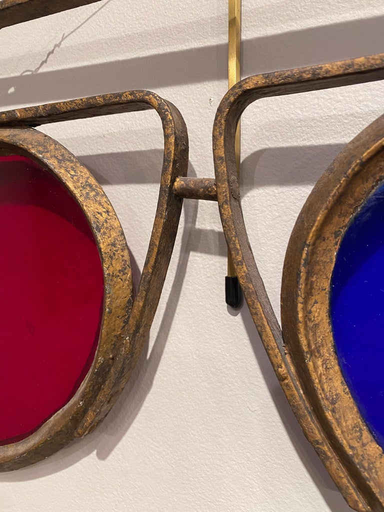 Antique Optometrist Trade Sign In Good Condition For Sale In New York, NY