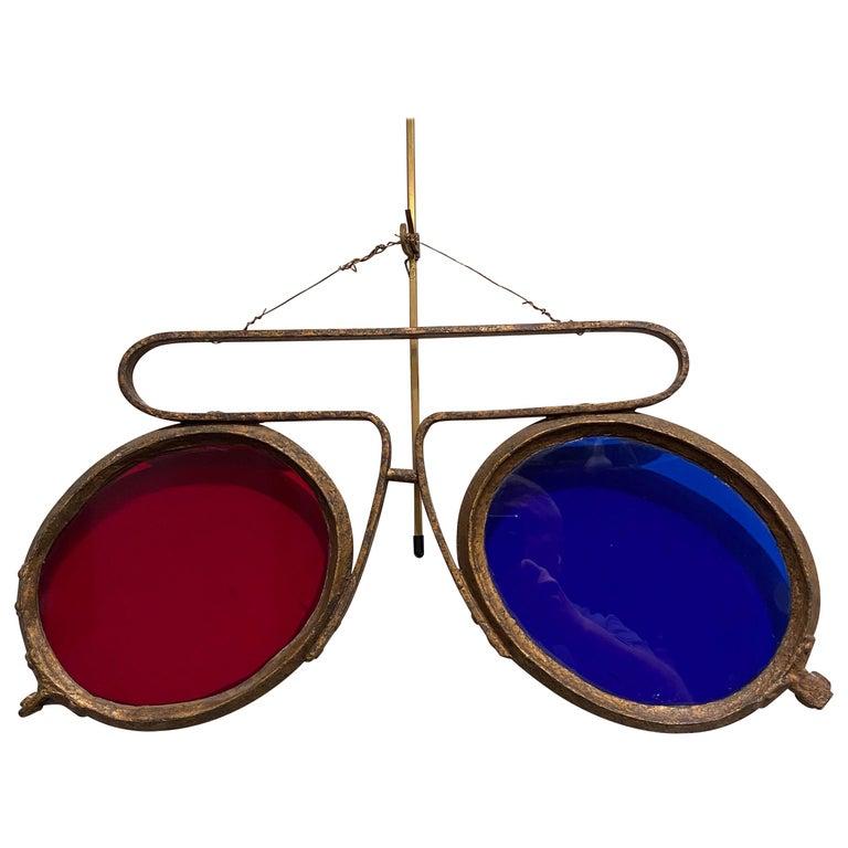 Antique Optometrist Trade Sign For Sale