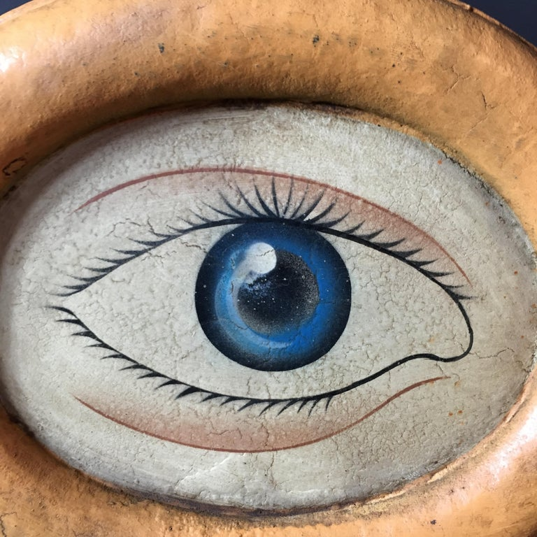 Antique Optometrist Trade Sign With Wall Bracket Circa