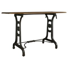Orangery Table, English, Industrial, Machinist, Victorian, Side, circa 1900