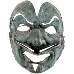 Antique Oriental Copper Theater Mask