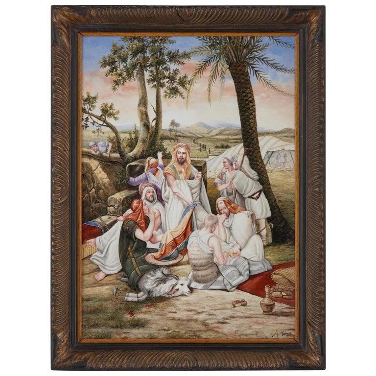 Orientalist German Painted KPM Style Porcelain Plaque For Sale