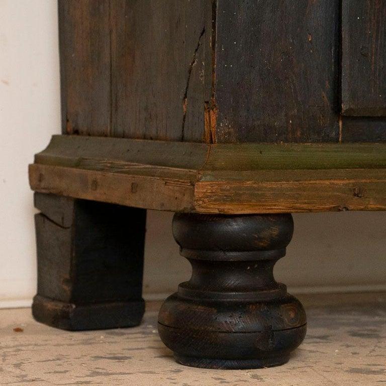 19th Century Antique Original Hand Painted Primitive Armoire For Sale