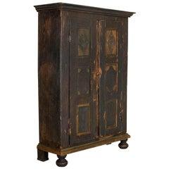 Antique Original Hand Painted Primitive Armoire