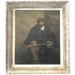 Antique Original Oil Painting by Listed French Artist Joseph Bail