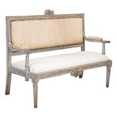 Antique Original Painted Swedish Gustavian Bench
