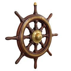 Antique Original Ship's Wheel, English, Oak, Maritime, Collectable, Victorian