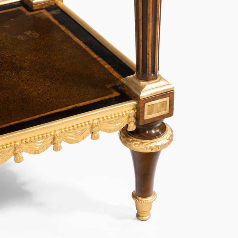 Antique Ormolu-Mounted Side Table in the Louis XVI Manner by Henry Dasson For Sale 4