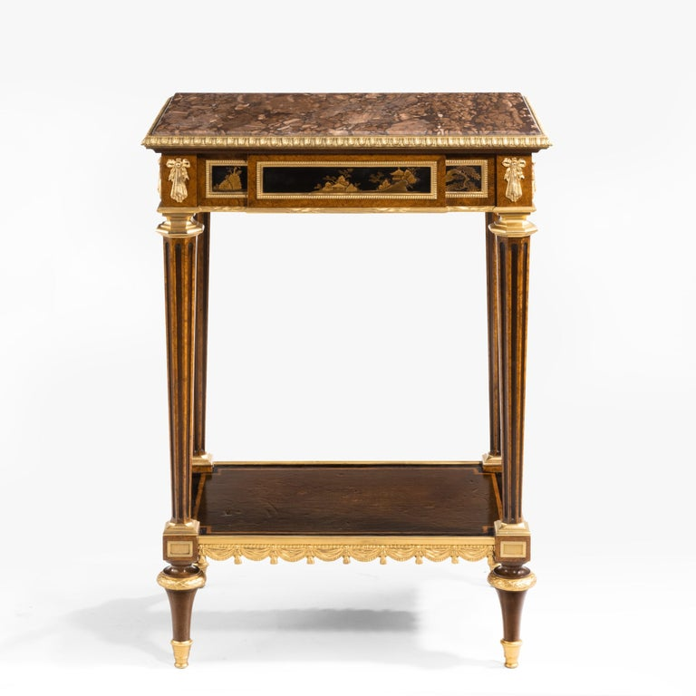 Antique Ormolu-Mounted Side Table in the Louis XVI Manner by Henry Dasson For Sale 6