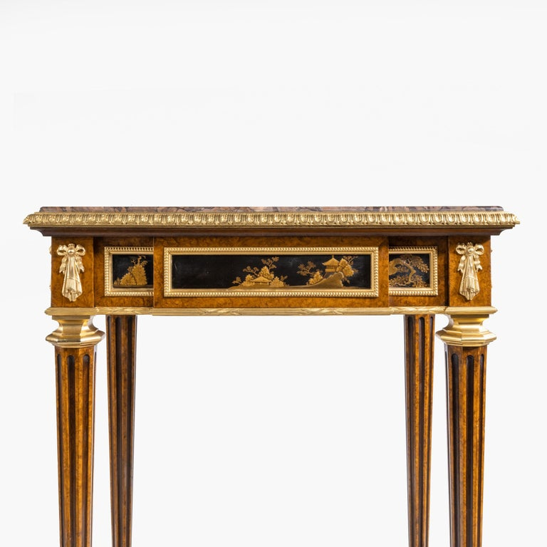 Antique Ormolu-Mounted Side Table in the Louis XVI Manner by Henry Dasson For Sale 7