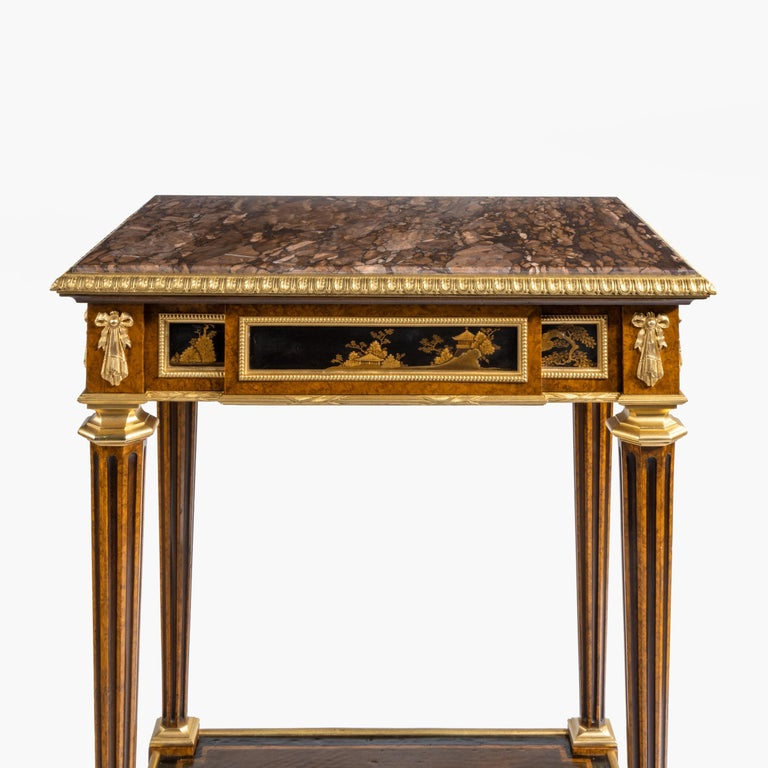 Antique Ormolu-Mounted Side Table in the Louis XVI Manner by Henry Dasson For Sale 8