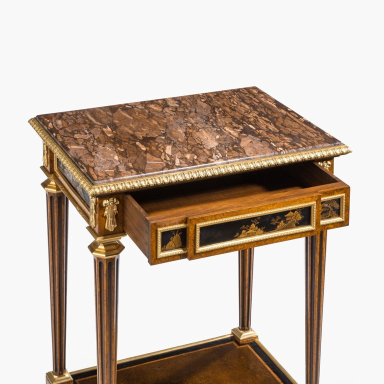Antique Ormolu-Mounted Side Table in the Louis XVI Manner by Henry Dasson For Sale 12