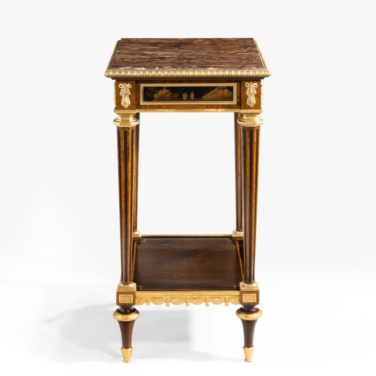 Antique Ormolu-Mounted Side Table in the Louis XVI Manner by Henry Dasson In Excellent Condition For Sale In London, GB