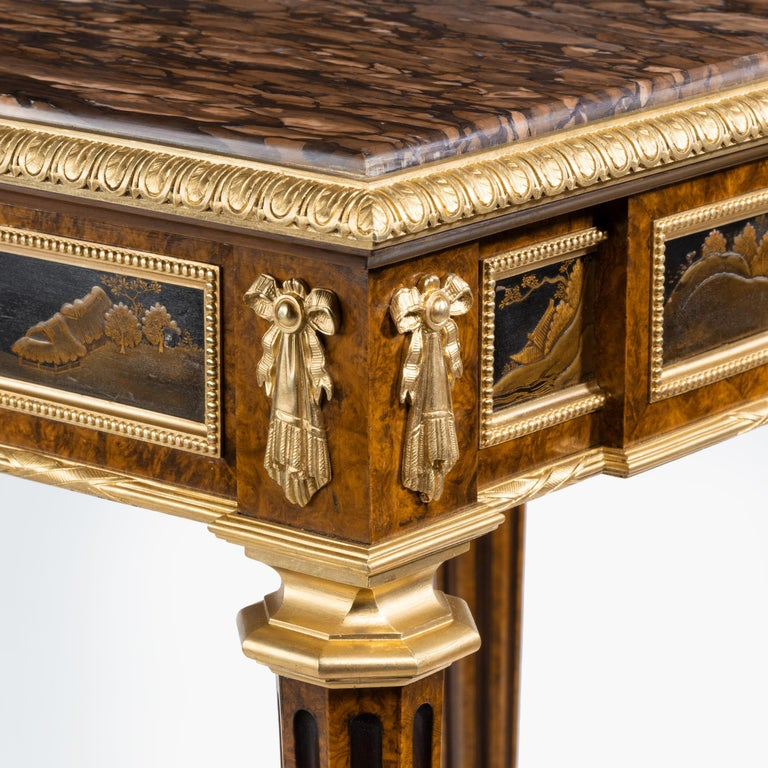 Bronze Antique Ormolu-Mounted Side Table in the Louis XVI Manner by Henry Dasson For Sale
