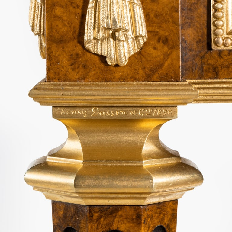 Antique Ormolu-Mounted Side Table in the Louis XVI Manner by Henry Dasson For Sale 1