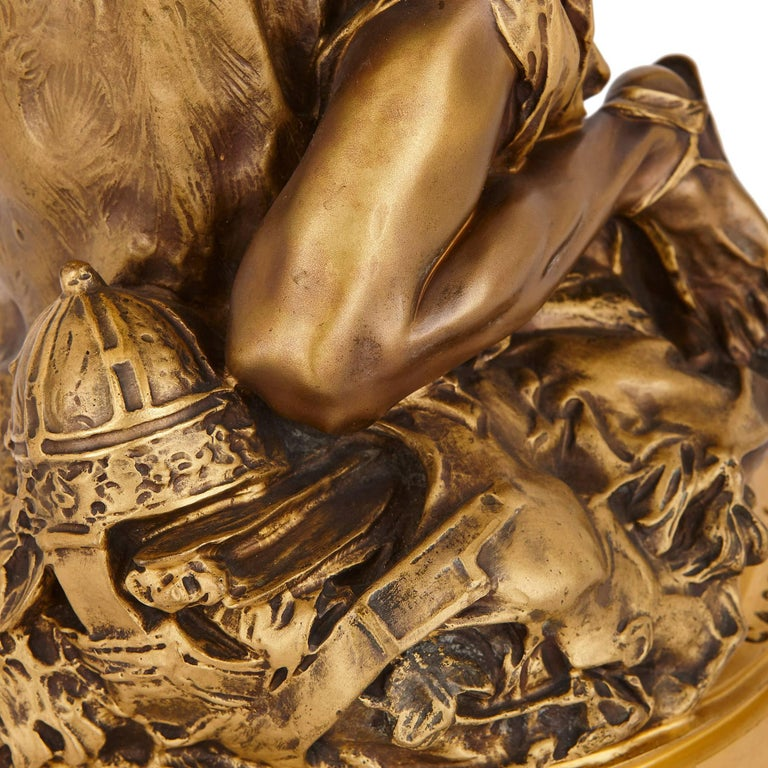 Antique Ormolu Sculpture 'Carthage' by Riviere and Susse Freres 5