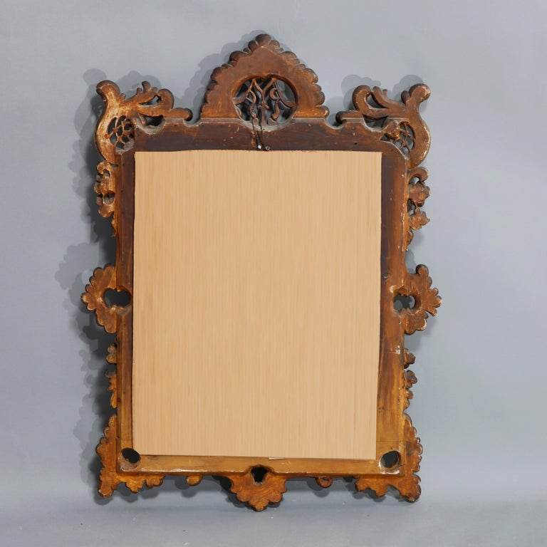 Antique Ornate French Louis XIV Style Giltwood Wall Mirror, Circa 1900 For Sale 4