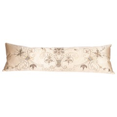 Antique Ottoman Metallic Embroidered Body Pillow, Late 19th / Early 20th C