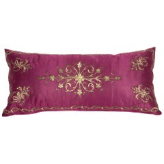 Antique Ottoman Sarma Silk Velvet Pillow Case, Late 19th-Early 20th Century