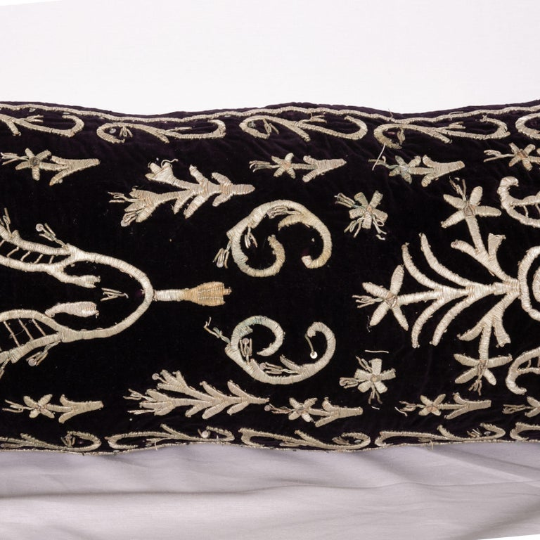 20th Century Antique Ottoman Silver on Purple Pillow Cases, Early 20th C