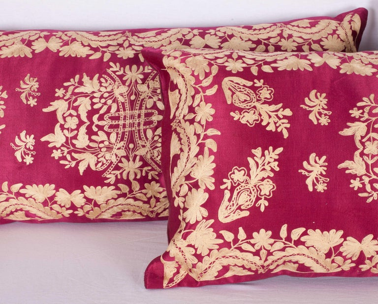 Suzani Antique Ottoman Turkish Pillow Cases Late 19th-Early 20th Century For Sale