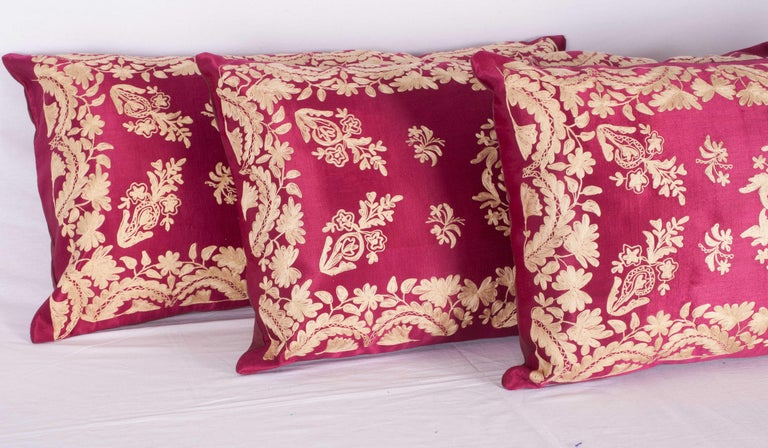 Silk Antique Ottoman Turkish Pillow Cases Late 19th-Early 20th Century For Sale