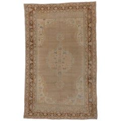 Antique Oushak Carpet, circa 1920s
