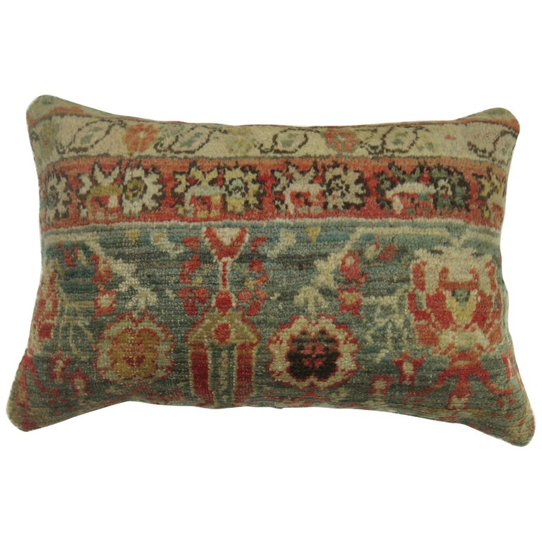 Antique Oushak Lumbar Pillow For Sale