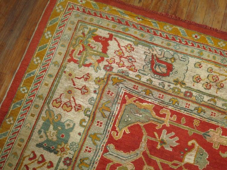 Antique Oushak Rug For Sale 2