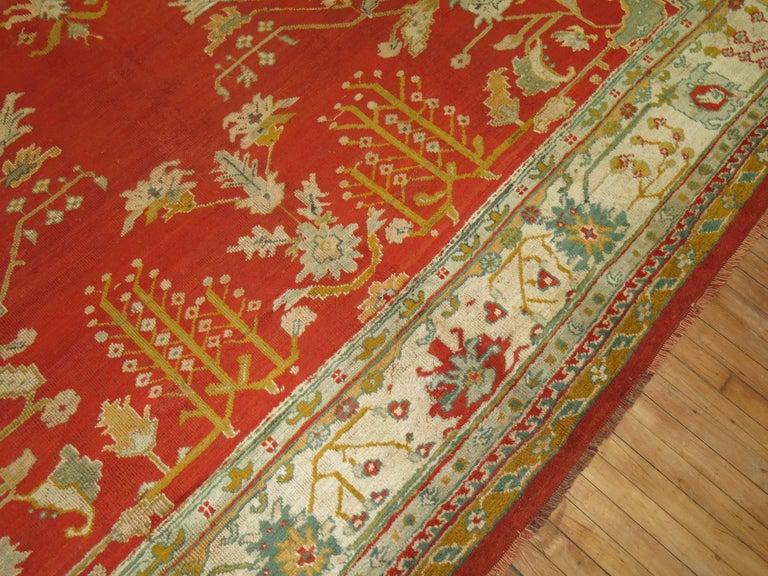 Antique Oushak Rug For Sale 3