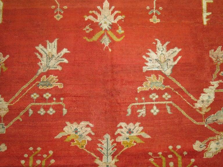 Antique Oushak Rug For Sale 4