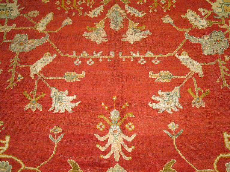 Antique Oushak Rug For Sale 5
